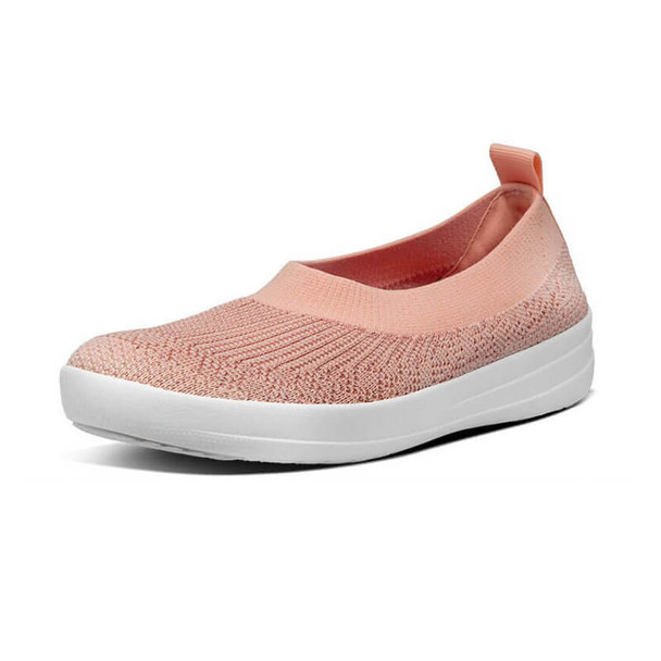 FitFlop Marble Knit Ballerina Coral