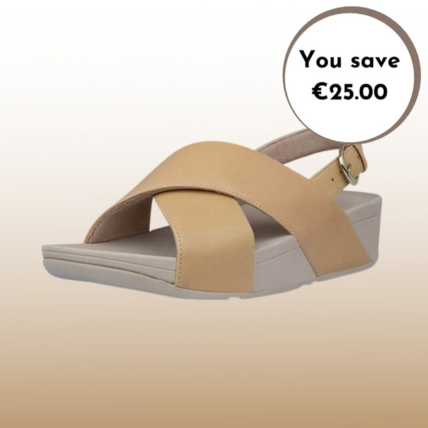 FitFlop Lulu Leather Sandals Blush Sale