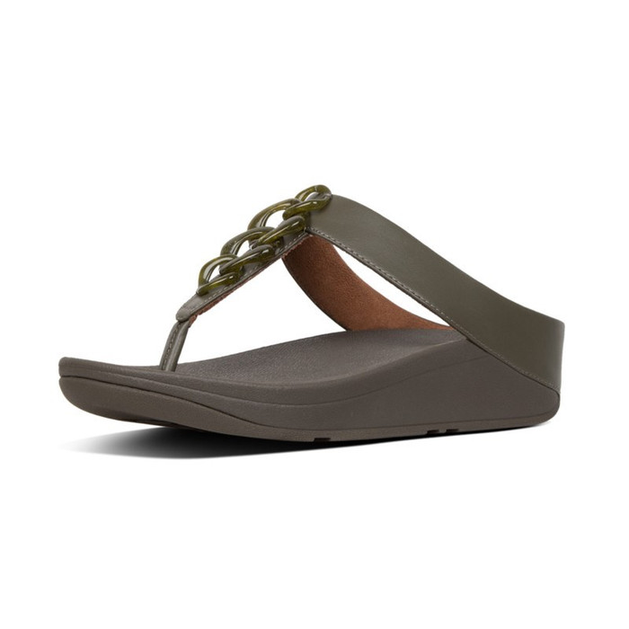 FitFlop™ Fino Turtle Shell Avocado