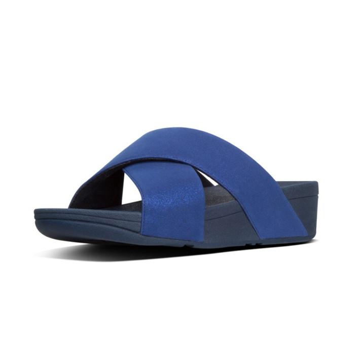 FitFlop™ Lulu Shimmer Slide Navy
