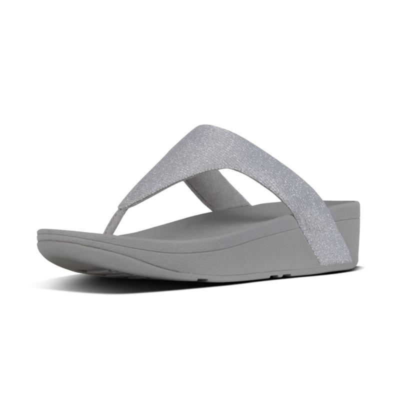 33b1dcd3e341 FitFlop™ Lottie Glitzy Toe-Thongs Silver