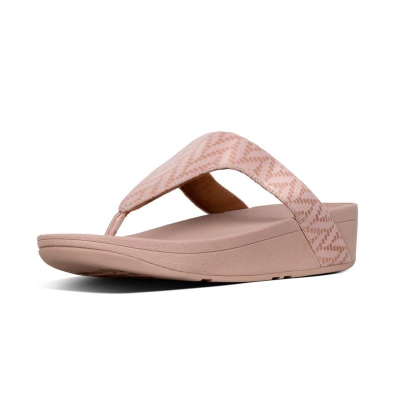 0729e7b87601 FitFlop™ Lottie Chevron Toe-Thongs Pink