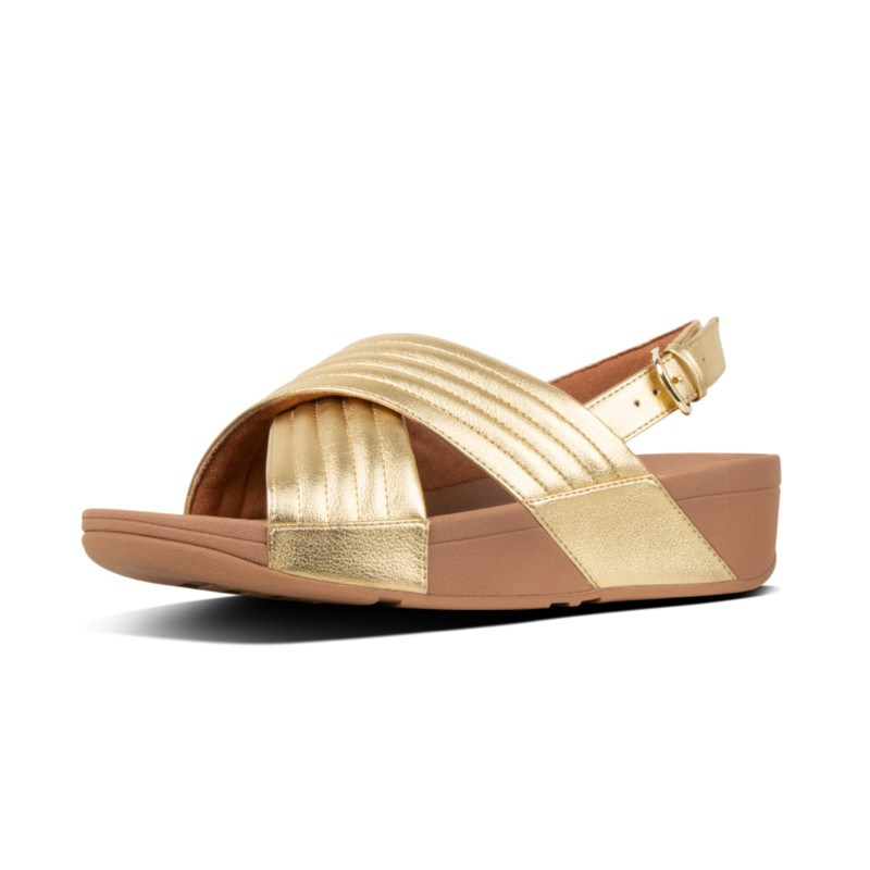132f68cd168d FitFlop™ Lulu Padded Metallic Cross Sandals Gold