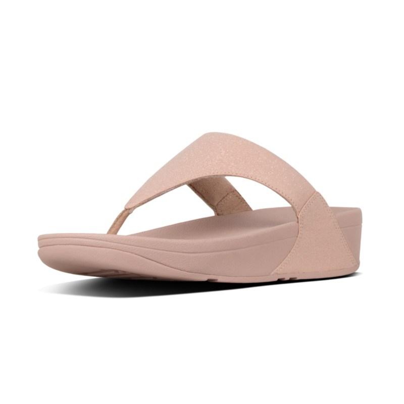 15ef898c75c3 FitFlop™ Lulu Shimmer-Print Toe-Thongs Rose Gold
