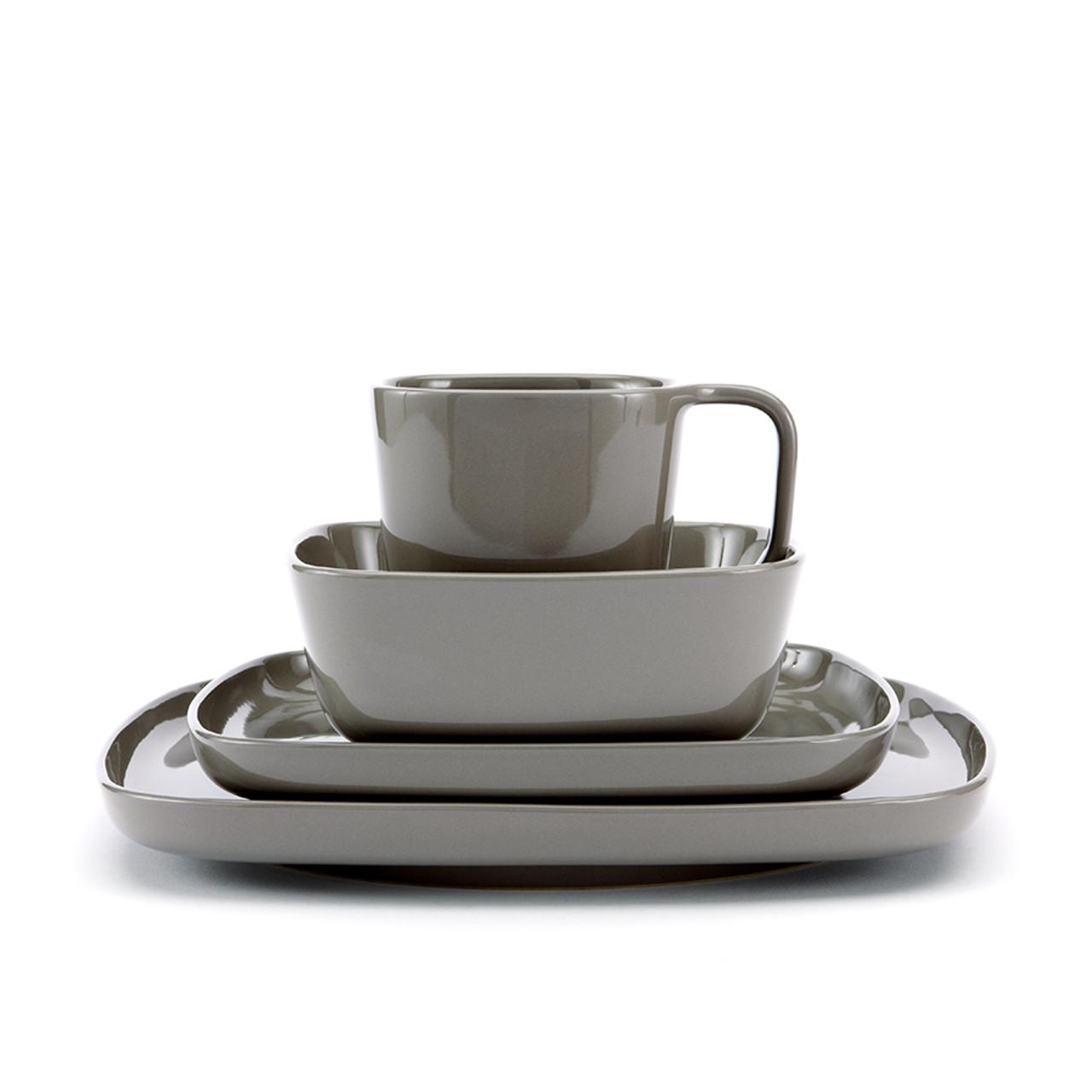Karo - Taupe-Brown Dinnerware set 16pc