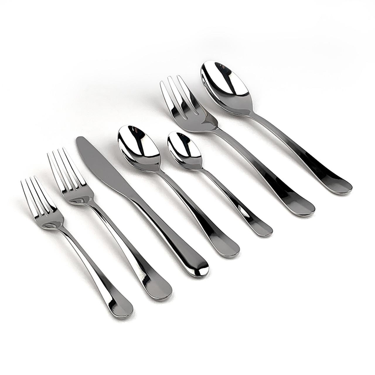 "Gourmet Settings /""Celebration/"" Pattern 18//10 Stainless Steel Flatware"