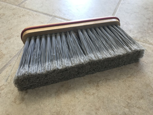 "9"" Fine  Angled  Upright Broom - HEAD ONLY - #115-4"