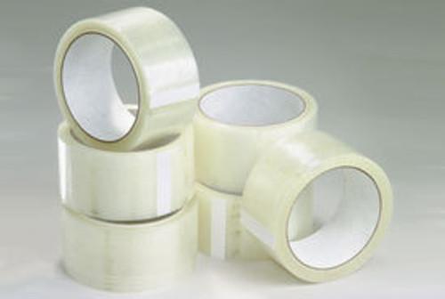 "3"" x 110 yds Carton Sealing Tape - 2 mil Clear Acrylic Tape 24 rolls/cs - #20CST3110C"
