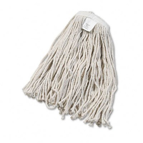 20 oz Cut End Wet Mop 4 Ply White Cotton, Narrow Band - #P10020