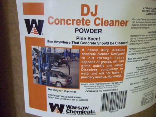 Warsaw DJ 100# Orange Concrete Cleaner