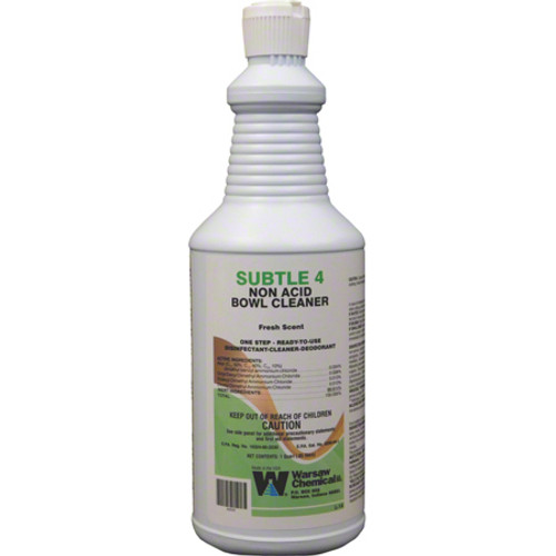 Subtle 4 Disinfectant Deodorizer RTU Quart 12/cs