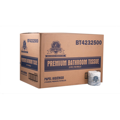 Premium Bath Tissue 430 Sheets 2ply 4.25 x 3.25 - 96/cs - #BT4232500