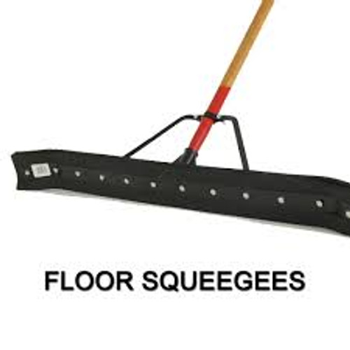 36″ Complete Curved Hard Rubber Squeegee - #HB24736C