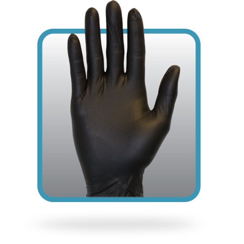 Powder Free Black 5 Mil Nitrile Gloves