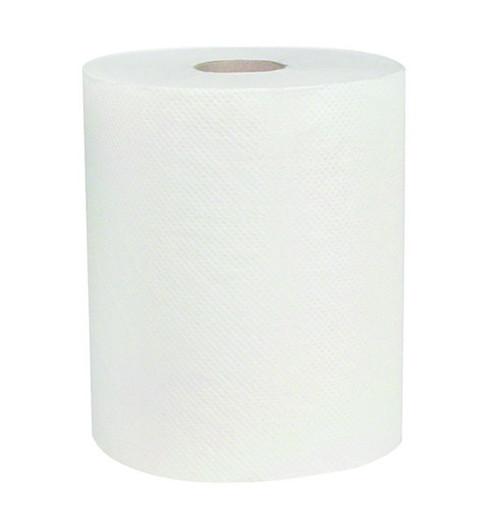 Hardwound Roll Towel 600' White - 12/CS - Universal Core - #183217
