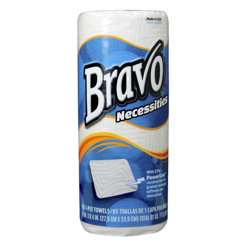 Bravo Necessities™ 2-Ply Kitchen Roll Towels 85 sheets - 30/cs  - #18350