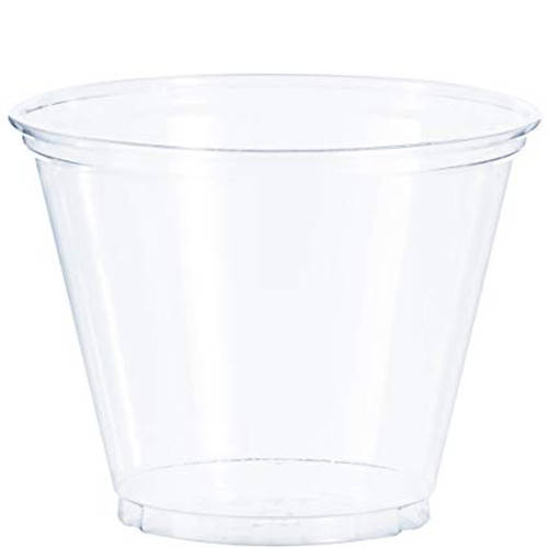 Clear 9oz PET Squat Cup - 1000/cs - #TP9R