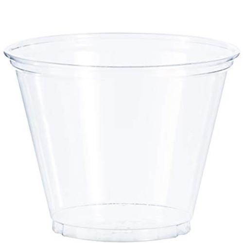 Clear 9oz PET Squat Cup - 1000/cs - #TP9R