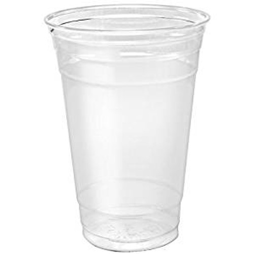 Clear 20oz PET Squat Cup - 600/cs - #TP20