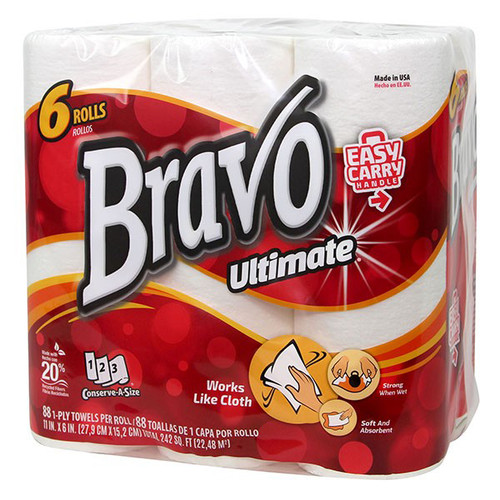 Bravo Ultimate® Premium White Paper Towels - 24/cs - #30606