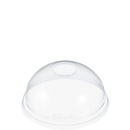 "Clear Dome Lid - 1"" Hole - 1000/cs - #DLR626 - For TP16D & TP20"