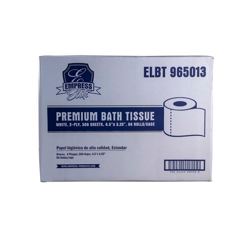 Elite Premium White Bath Tissue  500 sheets - 96/cs - #ELBT965013