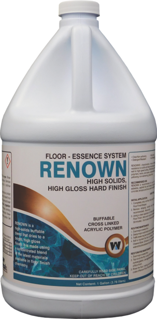 Renown High Gloss Floor Finish - 4 gallons/cs