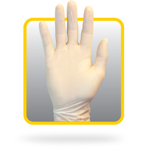 Powder Free White 5 mil Latex Gloves