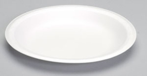 "Genpak Celebrity 9"" White Non Laminated Foam Plate - 500/cs - #80900"