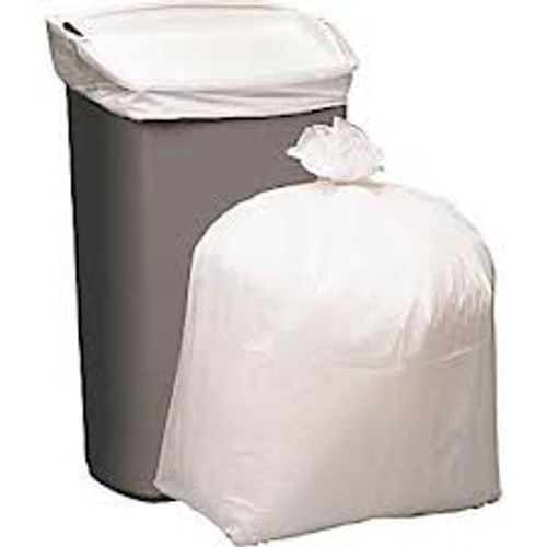 "24"" x 32"" 12-16 Gallon .5 Mil White Low Density Can Liner - #CRLD33RW"