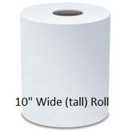 "Preserve Premium White 10"" x 800' Hardwound Roll Towels - 6/cs - #816B"