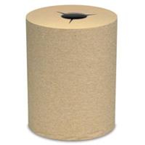 "Preserve Premium ""Star Cut"" Kraft 8"" x 600' Hardwound Roll Towels - 6/cs - #860NS"