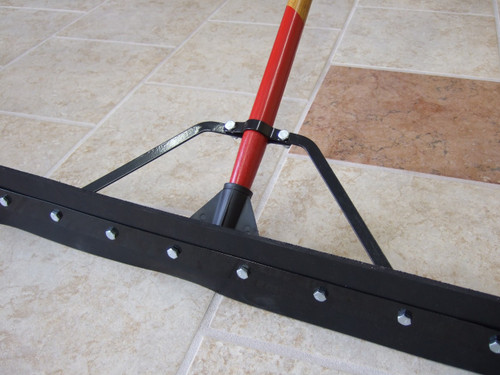 """36"""" Complete Double Edge Hard Rubber Straight Squeegee - #HB24836C"""
