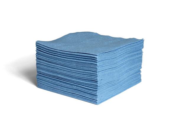 Blue Spunlace  1/4 Fold Wiper - Low Lint - #63285