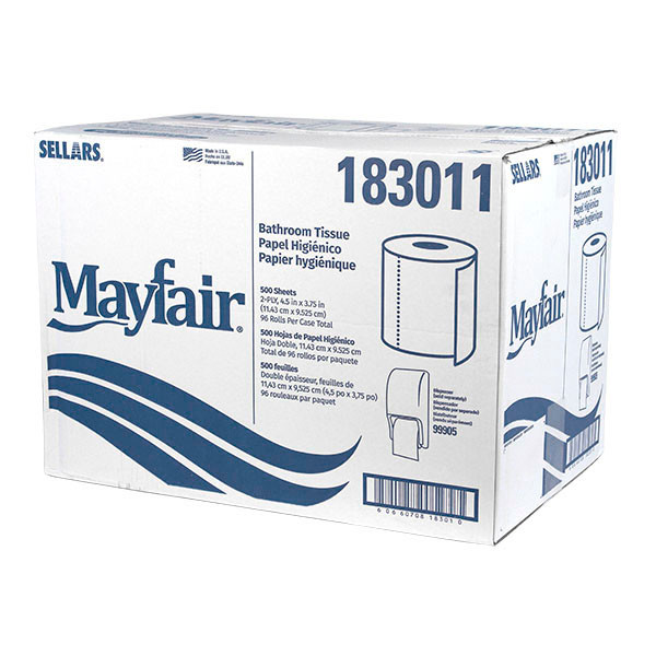 2-Ply Recycled Bathroom Tissue 500 sheets - 96/cs - #183011