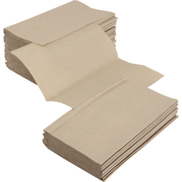 Natural Singlefold Hand Towels - 4000/cs - #HT400031