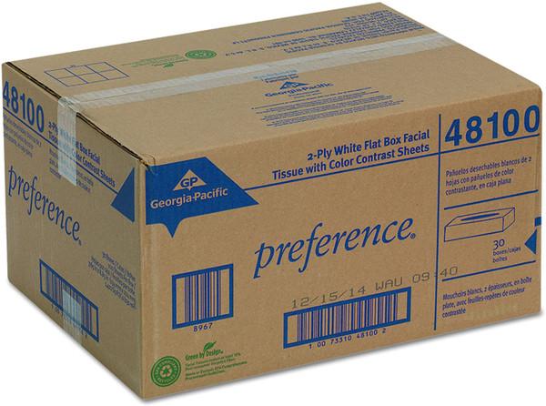 Georgia Pacific Professional Facial Tissue Flat Box  100/bx - 30bx/cs - #48100