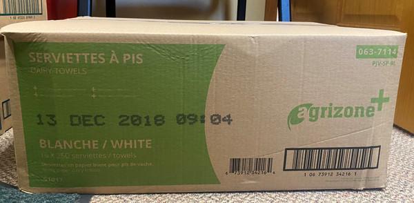 White Singlefold Paper Towels 3000/cs #AgrizoneWHITESF