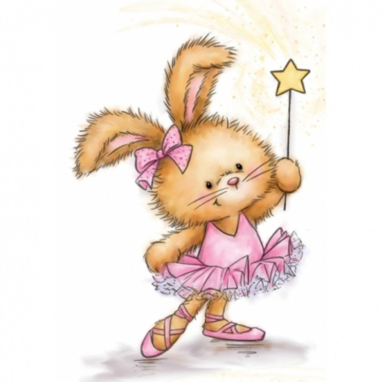 Baby Bunny Wild Rose Studio Clear Stamp CL517