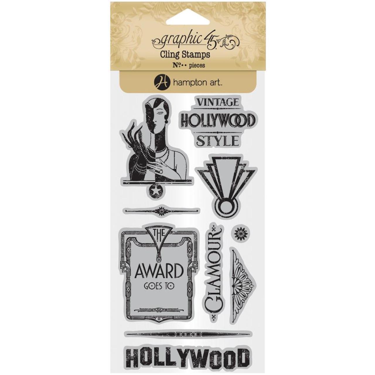 Graphic 45 ~ VINTAGE HOLLYWOOD ~ Stamp Set 3
