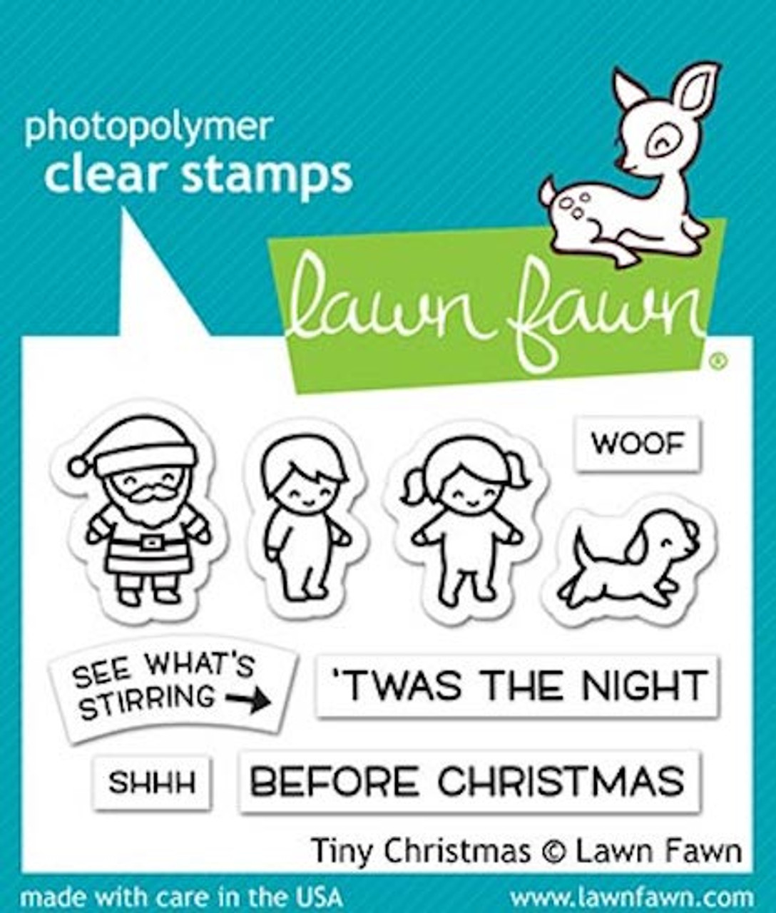 Christmas Stamps.Lawn Fawn Tiny Christmas Clear Stamp