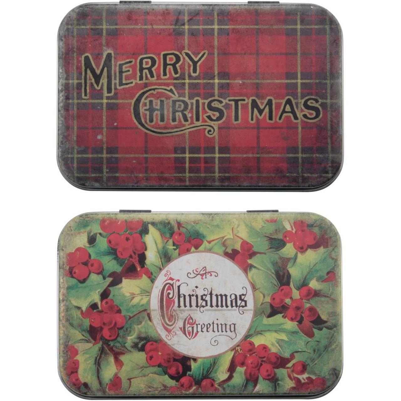 Christmas Tins.Tim Holtz Idea Ology Trinket Tins Christmas Preorder