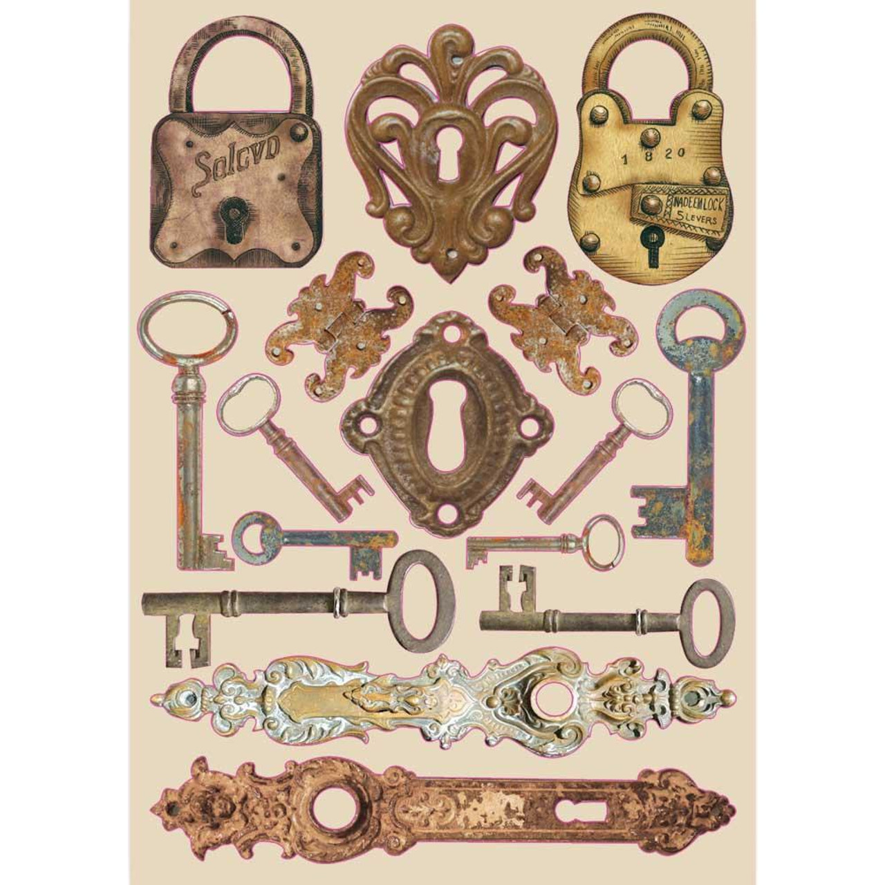 NEW Stamperia Wooden Shapes Embellishments Gears