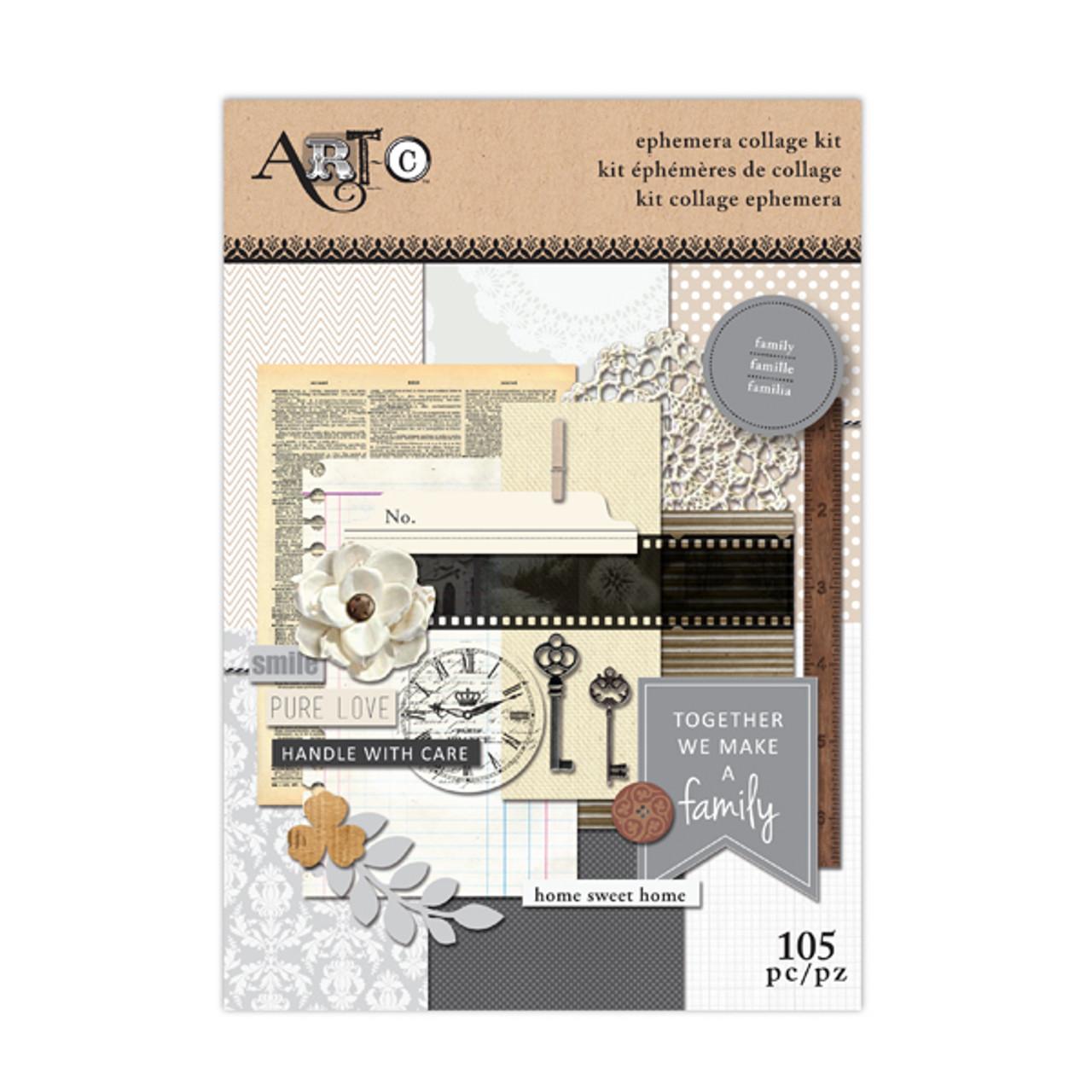 ArtC Ephemera Collage Kit - Family 105 pc