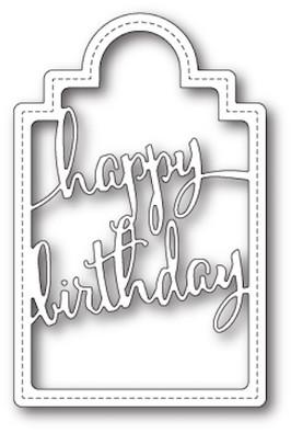 Poppystamps Craft Die - Happy Birthday Sash - The Rubber Buggy