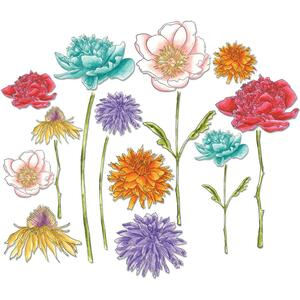 661806 Flowers Tim Holtz Small Tattered Florals Thinlits Dies By Sizzix 21Pkg