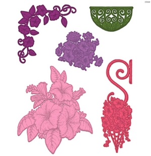Heartfelt Creations Cling Rubber Stamp Set Large Classic Petunia  816393019631
