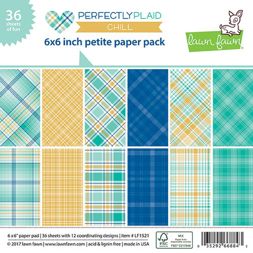 Lawn Fawn Perfectly Plaid Chill Petite Paper Pack 6 x 6 (LF1521)