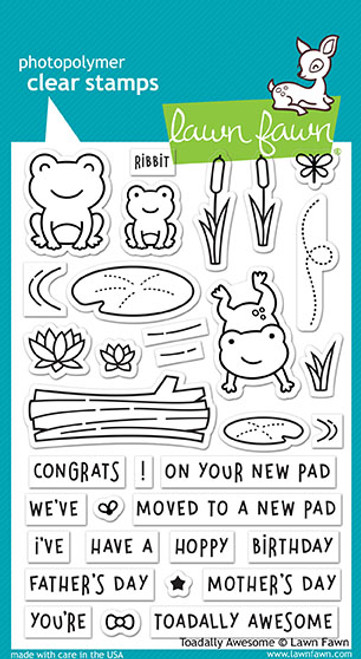 Lawn Fawn Toadally Awesome Stamp Set LF1581