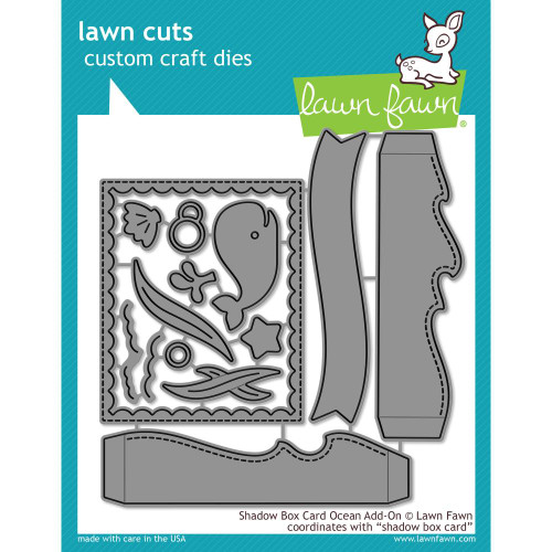 Lawn Fawn Shadow Box Card Ocean Lawn Cut (LF1705)